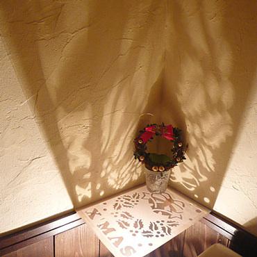 トイレの間接照明 クリスマスヴァージョン