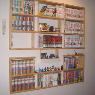 壁一面を本でいっぱいに 埋め込み本棚