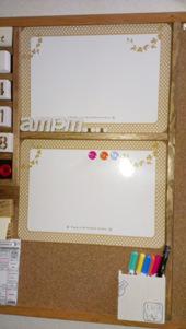 2. 磁石のホワイトボード<br />個々の予定を書く