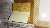 4. メモ用紙もマスキングテープで飾り取りやすく付けました。