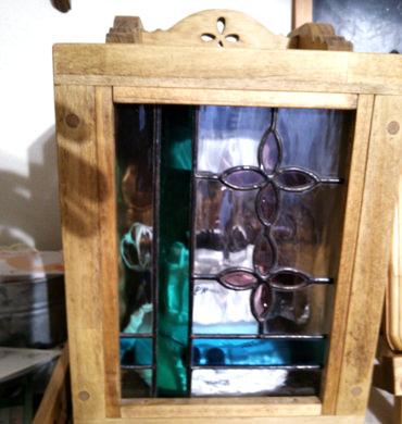 ステンドグラス扉のミキサーケース
