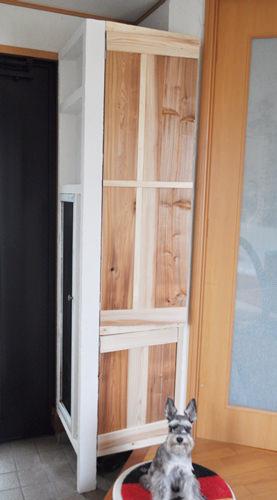 4. 反対側も扉を作り固定。ペイントします