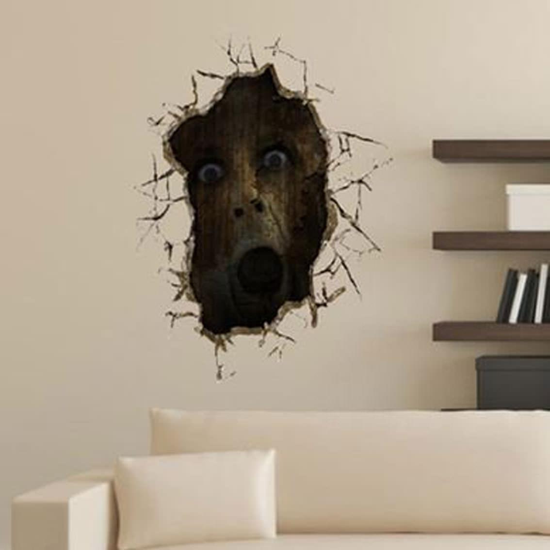 ゾンビが壁から覗いてる! <br>来客にトラウマを与えよう